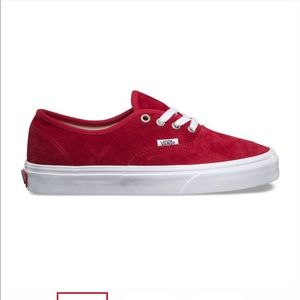 Vans Red PIG SUEDE AUTHENTIC